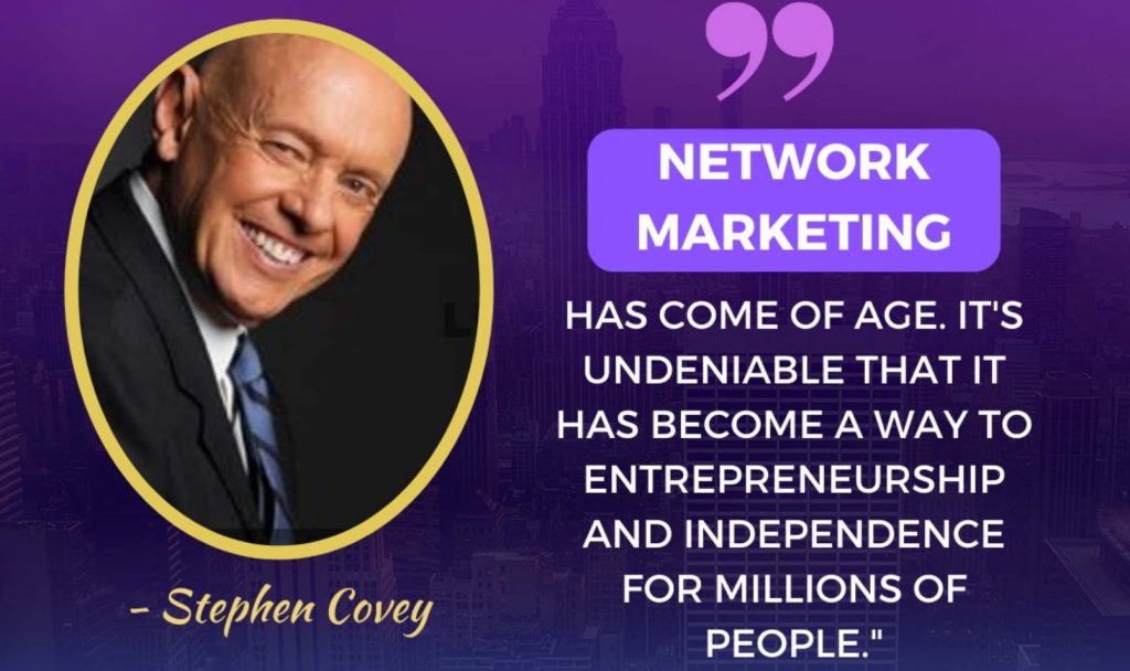 MLM NETWORK MARKETING STEPHEN COVEY QUOTE