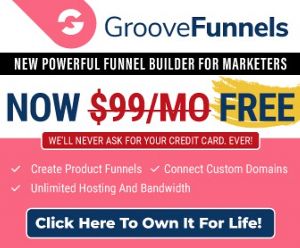 goovepages groovefunnels FREE Way to Build Your Websites and Funnels